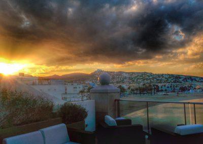 Increíbles puesta de sol en Peñiscola