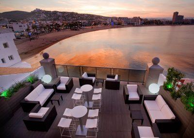 Terraza Chillout Hotel Boutique La Mar en Peñíscola